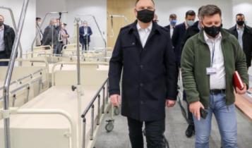 PAD i Michał Dworczyk w szpitalu na Stadionie Narodowym/ fot. Twitter