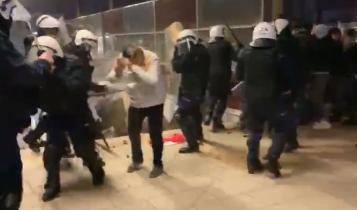 akcja policji po Marszu Niepodległości/ fot. screen