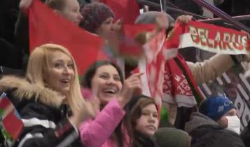 mecz hokeja na Białorusi/ fot. screen