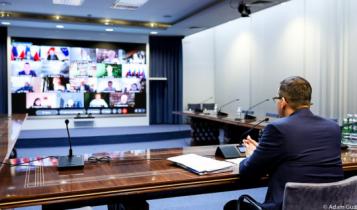 posiedzenie Rady Medycznej pod przewodnictwem premiera Morawieckiego/ fot. Twitter