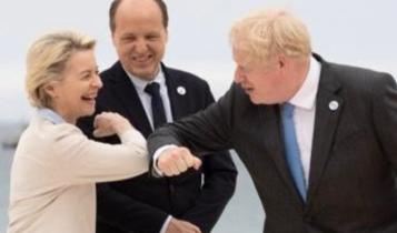 Ursula von der Leyen i Boris Johnson/ fot. Twitter