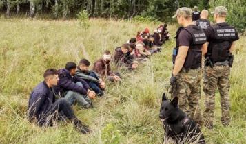 zatrzymanie nielegalnych imigrantów na granicy polsko-białoruskiej/ fot. Straż Graniczna